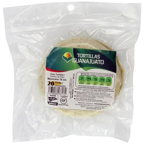 10cm White Corn Tortilla Mexicana Zip-Lock