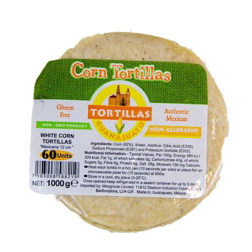 12cm White Corn Tortilla Mexicana 10 x 60 Case