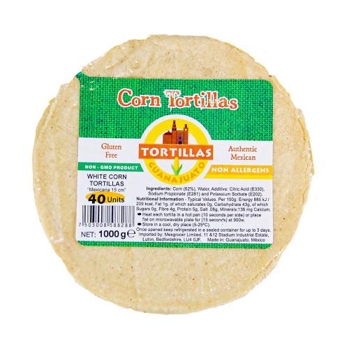 15cm White Corn Tortilla Mexicana 1kg