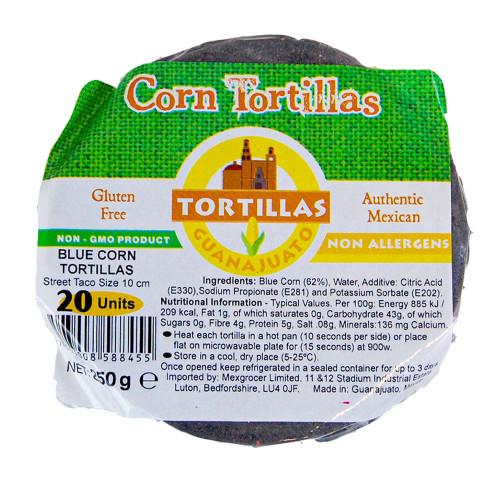 10cm Blue Corn Tortilla Mexicana Zip-Lock 40 x 20 Case