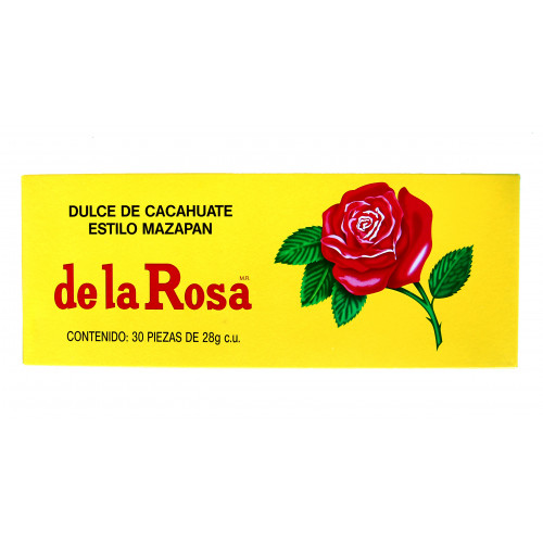 Mazapan De La Rosa Peanut Candy 20x30 Case
