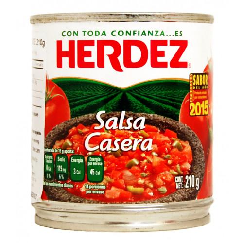 Herdez Casera Salsa 48x210g Case