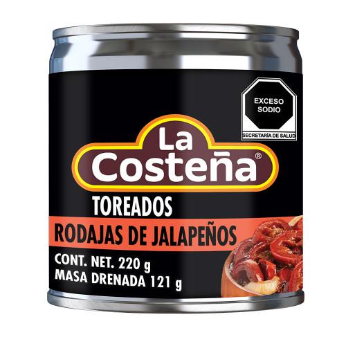 La Costena Jalapeno Red Slices Toreados 24 x 220g