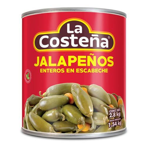 La Costena Jalapeno Whole 6 x 2.8kg Case