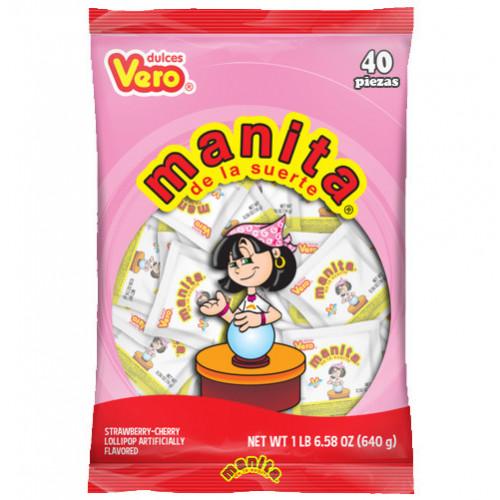 Manita de la fortuna lollipop 40x16gr Bag
