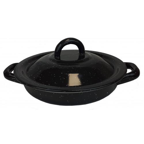 Tortilla Warmer Pewter Black 18cm
