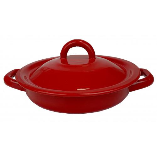 Tortilla Warmer Pewter Red 18cm