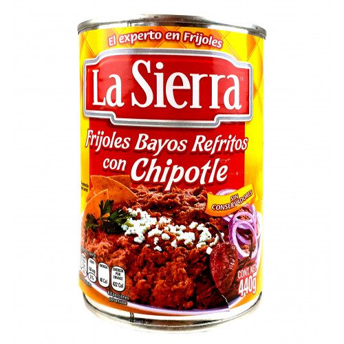 La Sierra Refried Bayo Beans With Chipotle 12 x 440g