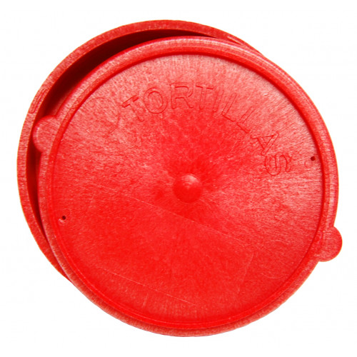 "6"" Red Plastic Tortilla Warmer"