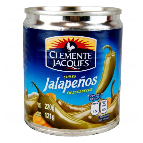 Clemente Jacques Jalapeno Chillies Whole 220g