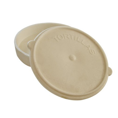 "6"" Cream Plastic Tortilla Warmer"